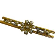 Victorian seed Pearl Gold Brooch