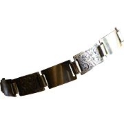 A 1955 Hand Engraved Gold Braclet