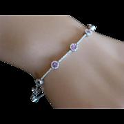 Amethyst & Diamond 18k Bracelet