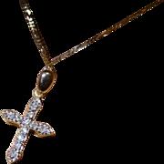 Very neat Diamond Cross & Chain