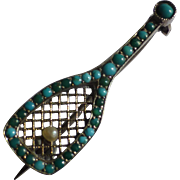 Antique Silver tennis Racket
