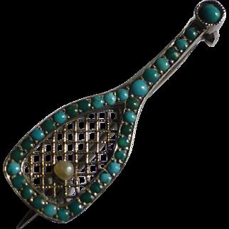 Antique Silver tennis Racket