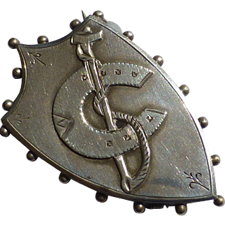 Victorian Silver Stock Pin / Brooch