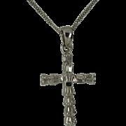1 Carat of Natural Diamonds set in a 18k Cross