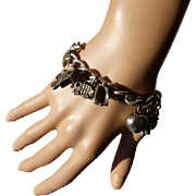 Hallmarked Heavy Solid Curb Chain CHARM Bracelet