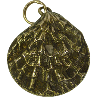 Oyster Shell Pendent / Charm with REAL Pearl
