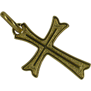 Neat Gold Cross
