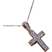Only the the Best …. Platinum Princess Cut Diamond Cross * * * * *
