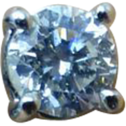 Single Stone Diamond 18k Ear Studs
