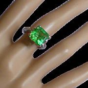5.95 Carat Natural Emerald & Diamond Ring