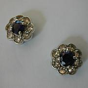 Classic 18 ct. Sapphire & Diamond Cluster Ear Studs