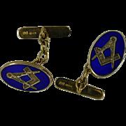 Gold Vitroes Enamel MASONIC Cuff links