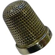 Solid Silver 1924 Thimble