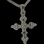 Beautiful 18k Diamond Cross & Chain