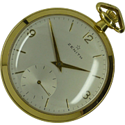 "Famous ""Zenith"" 18k Pocket Watch * * * * *"