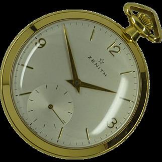 """Famous """"Zenith"""" 18k Pocket Watch * * * * *"""