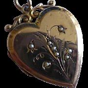 Heart shaped  Antique Gold Locket