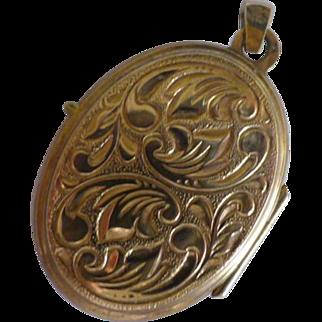 Embossed Gold 1968 Locket