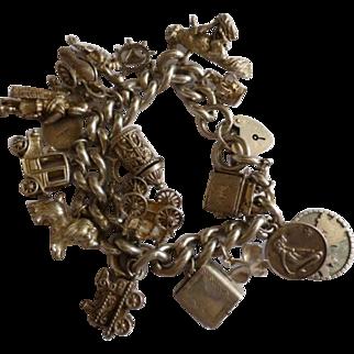 Very Heavy Silver Charm Bracelet