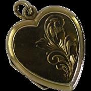 Heart Shaped Gold Locket
