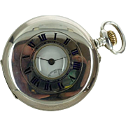 London 1918 Half Hunter Silver Pocket Watch