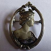 Art Deco style Silver Brooch / Pendent