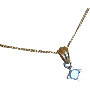 .30 Carat Princess cut DIAMOND 18k Pendent