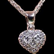 Heart Diamond Pendent & Chain