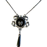 Solid Silver Art deco Style Pendent