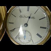 """Elegant 14k  Gold """"Elgin"""" gents Pocket Watch"""