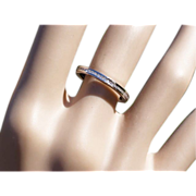 Diamond 9k Gold Half Eternity Ring under $300 * * * * *