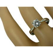 Single Stone Diamond Platinum Ring * * * * *