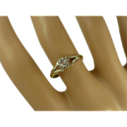 Inexpensive Vintage Engagement Ring….yet 18k & a natural Diamond.