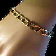 Hallmarked Flexible link Bracelet