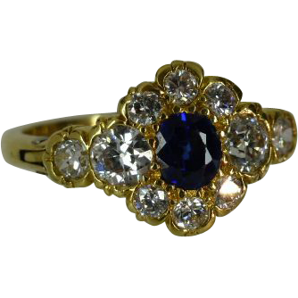Classic EXPANDING Sapphire & Diamond Cluster Ring