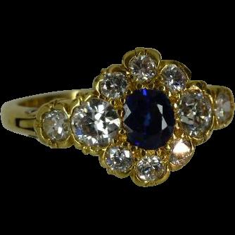 Classic EXPANDING Sapphire & Diamond Cluster Ring