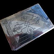 Solid Silver 1897 Note Pad & Silver Pencil