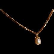 Large Drop F/W Pearl & chain