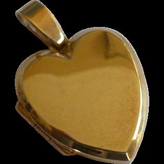 """Very heavy """"Heart"""" Shaped GOLD Locket"""