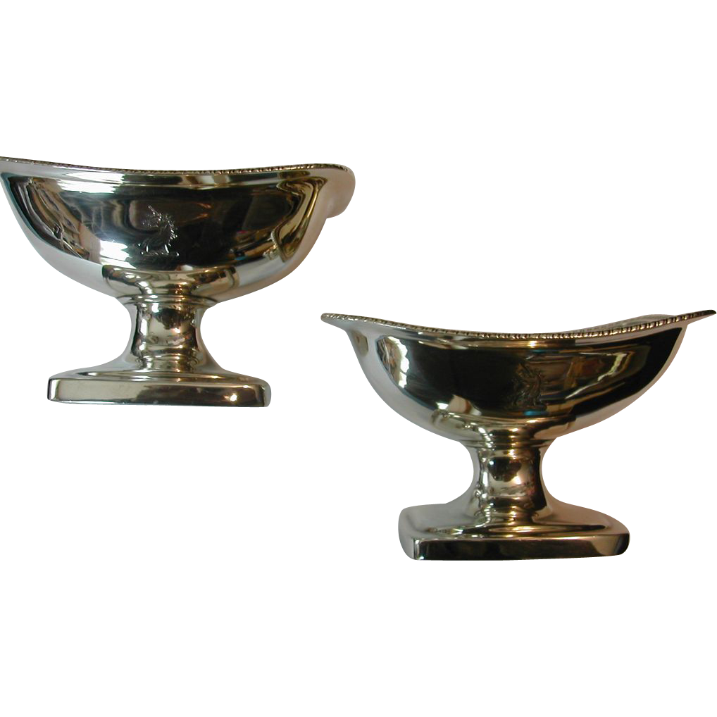 Pair of George III Silver Salts By Bateman