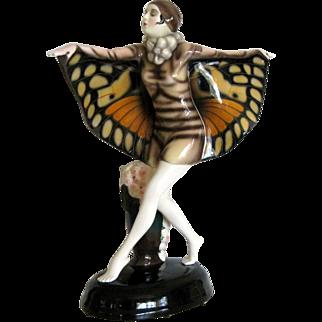 Goldscheider Butterfly Figure Lorenzl Austria