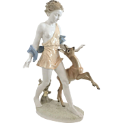 Hutschenreuther Art Deco Figure Diana and the Hind