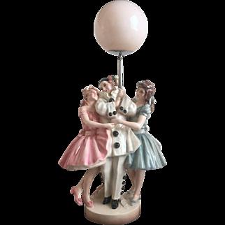Keramos Art Deco Pierrot Group Lamp