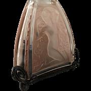 Robj Perfume Lamp Rare Pink Crystal Art Deco Nude