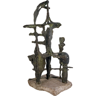 Arnold Geissbuhler Sculpture Abstract Modern Bronze