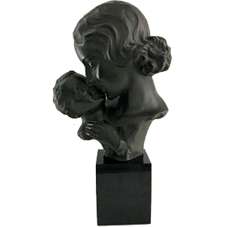 Johannes Dommisse Mother and Child Fine Art Sculpture
