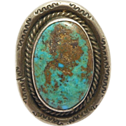 Old Navajo Turquoise Silver Ring