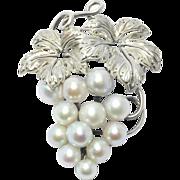 Silver Baroque Grey Pearl Silver Brooch