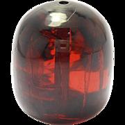 Huge Old Cherry Amber Bakelite Center Bead 37.8 Grams