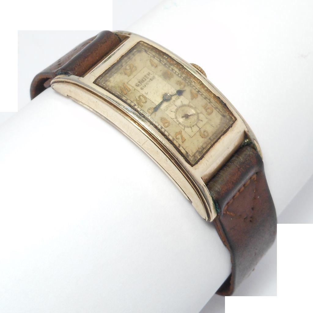 old gruen curvex 47mm man s vintage watch as is 17 jewels. Black Bedroom Furniture Sets. Home Design Ideas